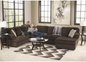 Jessa Chocolate 8PC Living Room Set,Direct & More Furniture