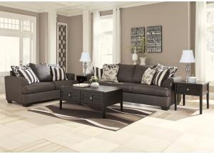 Levon Charcoal 7PC Living Room Set,Direct & More Furniture
