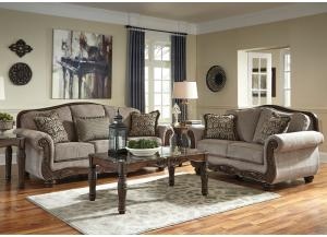 Cecilyn Cocoa 7PC Living Room Set,Direct & More Furniture