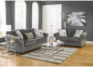 Makonnen Charcoal 7PC Living Room Set,Direct & More Furniture