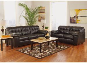 Alliston Chocolate 7PC Living Room Set,Direct & More Furniture